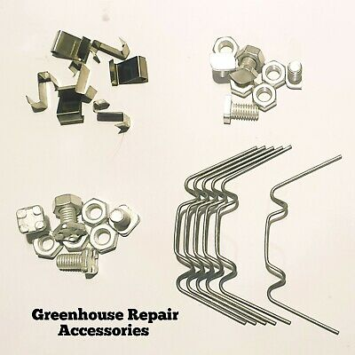 Greenhouse Maintenance Kit W Clips Z Clips & 11mm Bolts CROPPED Or SQUARE Head • 5.95£