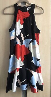 £30 • Buy TOPSHOP Unique Abstract Print Racerback Silk Dress Size 10 Worn Once
