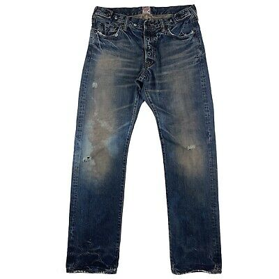 """Prps Dark Sulfur Jeans Men's Size 33 Factory Distressed, Stained 33"""" Inseam • 68.73£"""