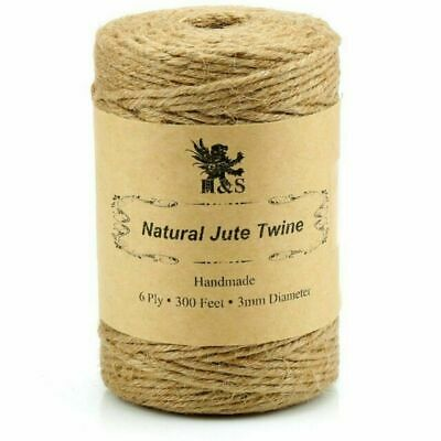 H&S Jute Rope Roll For Garden Florist - Brown • 100£