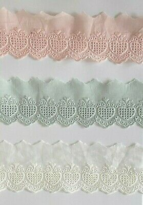 Cotton Embroidered Lace Fabric Trim 1 Yard Width 6 Cm • 3.29£