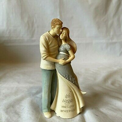 £9.99 • Buy Foundations Enesco Life Begins Figurine ' Life Begins... And Love Never Ends