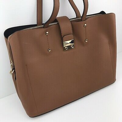 AU59.95 • Buy Forever New 15 Inch Tan Brown Faux Leather Laptop Bag Satchel