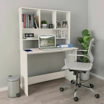 AU134.95 • Buy Desk With Shelves Computer Workstation Home Office Writing Study Table Organizer