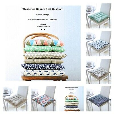 AU14.04 • Buy Thicken Cotton Chair Cushion Dining Kitchen Office Car Seated Pads Tie On Straps