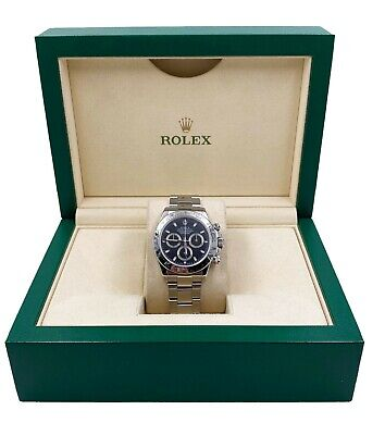 $ CDN25877 • Buy Rolex 116520 Daytona Cosmograph Black Dial Stainless Steel With Box
