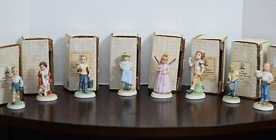 $ CDN377.64 • Buy Rare Lot Of 8 Norman Rockwell 4  Porcelain Figurines The River Shore Collection