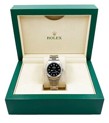 $ CDN8254.64 • Buy Rolex Explorer 114270 Black Dial Stainless Steel Watch With Box