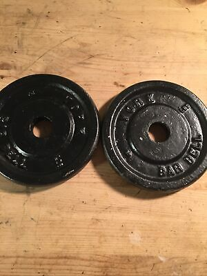$ CDN42.87 • Buy 2 Vintage York  5 Lb Barbell Weight Plates Standard 1  Hole Total Of 10 Lb