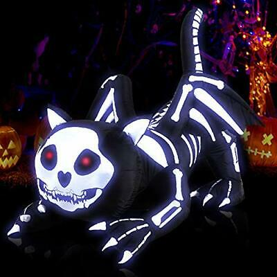 $ CDN100.96 • Buy Heytech Halloween Decorations Inflatable Black Skeleton Cat With Lights Outdo...