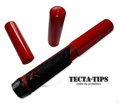 2 Full Length TECTA-TIPS For XP Mi4 And Mi6 Pin-pointer Probes In RED Or BLACK • 6£