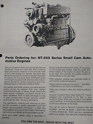 AU29.84 • Buy Cummins Nt-855 Series Small Cam Automotive Engines
