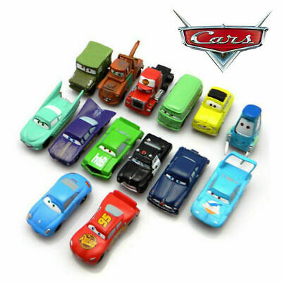 14pc Disney Pixar Cars Kids Toys/Cake Toppers Lightning McQueen Mater Sally UK. • 13.62£