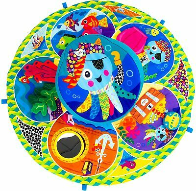 LAMAZE Spin & Explore Garden Baby Gym Play Mat For Sensory Play, Ideal Baby Show • 48.09£