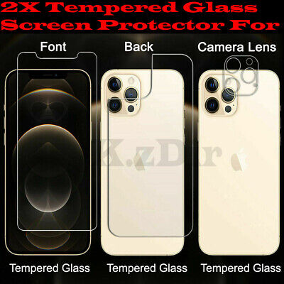 AU5.89 • Buy 2x Tempered Glass Screen Protector For Iphone 6 7 8 X XS XR XS MAX 11 12 PRO MAX