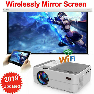 3500LMS LED Mini Wifi 1080P Projector Miracast Airplay For IPhone Wirelessly UK • 159.99£