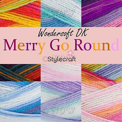 Stylecraft MERRY GO ROUND Double Knitting Premium Acrylic Crochet Yarn Wool 100g • 4.49£