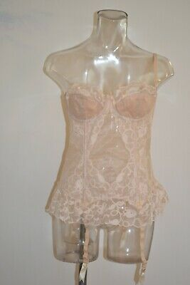 £15.50 • Buy Grenier Gorgeous Long Bustier VINTAGE NEW SAMPLES Low Back B-36-38 Natural