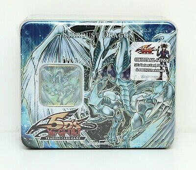 YuGiOh Stardust Dragon Collectible Tin 2008 1st Wave 5DS Sealed New Unopened • 800.37£
