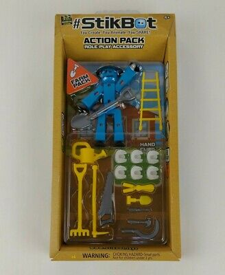 New Zing StikBot Action Pack Role Play Accessory Farm Pack Movie Props Sealed • 7.15£