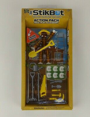 New Zing StikBot Action Pack Role Play Accessory Farm Pack Movie Props Sealed HK • 7.15£