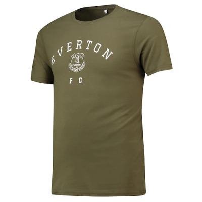 Everton Football T-Shirt Men's Fanatics Graphic Logo T-Shirt - Khaki - New • 11.99£