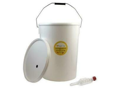 £13.25 • Buy 25 Litre Food Grade Fermenting / Fermentation Vessel Bucket Bin With Airlock