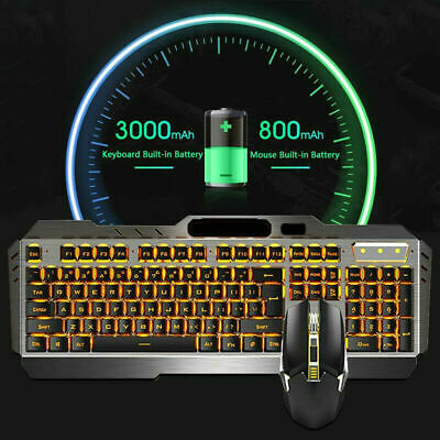 AU64.89 • Buy Backlit Wireless Gaming Keyboard With Cordless Cordless Mouse DPI Control Sets