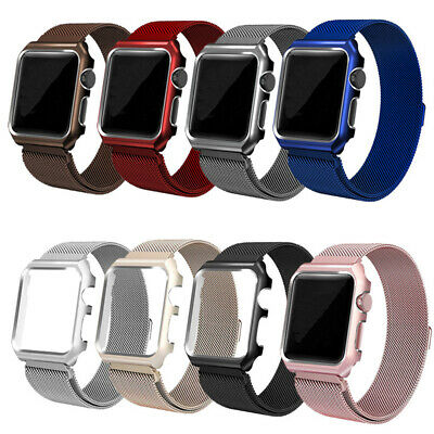 AU18.99 • Buy Magnetic Stainless Steel IWatch Band Strap + Case Apple Watch 6 SE 5 4 3 2 38 MM