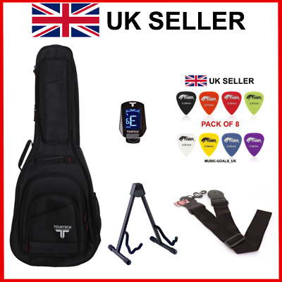 $ CDN115.98 • Buy Acoustic Guitar Complete Accessory Pack Guitar Bag Tuner Strap Picks Stand NEW