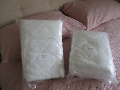 TWO Euro (Ikea Size) Double Fitted Mattress Protectors 140 Cm X 200 Cm  • 13.78£