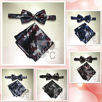 £7.36 • Buy New Men's Camouflage Military Pre-tied Bow Tie Set Wedding Prom Army Navy Marine