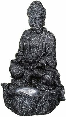 White Bright  Solar-powered LED Buddha Ornament For Garden Decor Or In House  • 12.95£