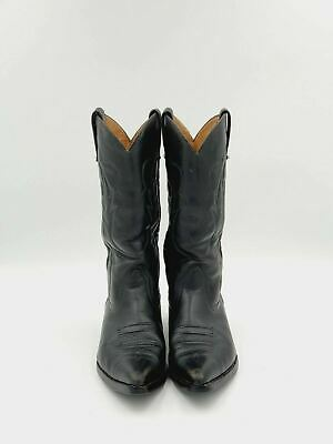 Sancho Western Style Black Leather Boots Mens Size 9.5US Made In Spain • 47.13£