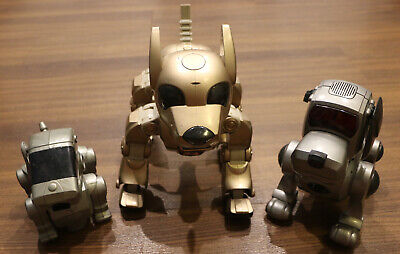 LOT OF 3 - Vintage Robotic Dogs - Silveir I-Cybie - Super Poo-chi - Talentoy • 38.62£