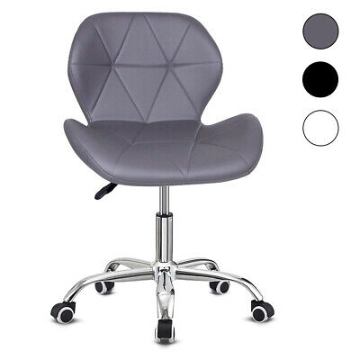 Cushioned Computer Desk Office Chair Chrome Legs Lift Swivel Small Adjustable • 42.99£