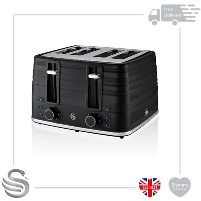£59.99 • Buy Swan Symphony Range 4 Slice Toaster 930W Reheat Defrost Cancel Functions