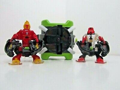Ben 10 Watch Omnitrix With 2 Characters Toy Heat Blast Four Arms (O1) • 9.99£