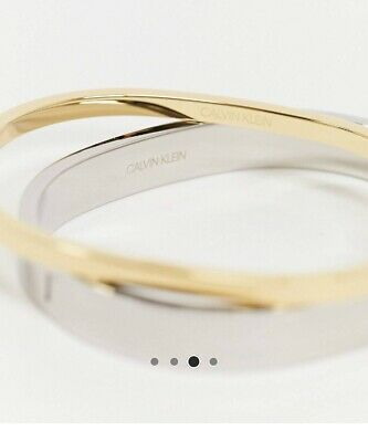 Womens Ck Calvin Klein Double Bangle RRP £149.00 Buy Now For £30.00 • 30£