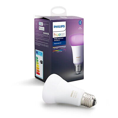 AU81.25 • Buy Philips Hue  E27 Smart Bulb White And Colour Ambiance 470 Lumen Colour Changing