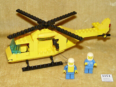 LEGO Sets: Classic Town: Coast Guard: 6697-1 Rescue-I Helicopter (1985) 100% • 9.99£