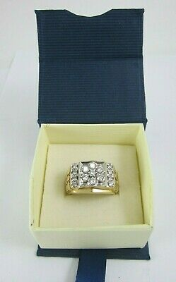 $1190 • Buy Very Nice Mens 14k Yellow Gold 7 Diamond Cluster Nugget Style Ring .87ct, 10.7g
