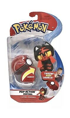 Pokemon Pop Action Poke Ball With Litton Plush New In Package • 10.61£