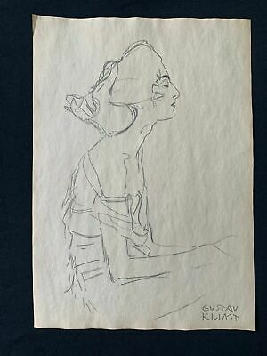 $ CDN162.92 • Buy Gustav Klimt Drawing On Paper Signed & Stamped Mixed Media
