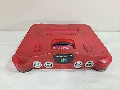 AU195.73 • Buy Watermelon Red Funtastic N64 Console Only  Nintendo 64 System Jumper Pak  TESTED