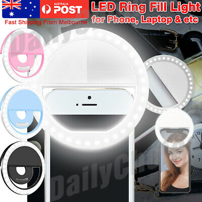 AU10.95 • Buy 3 Modes Selfie LED Ring Fill Light Camera Photography For IPhone Phone Melbourne