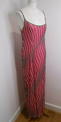 £65 • Buy After Six By Ronald Joyce Fully Beaded Strappy Evening Gown UK 14 Column VGC