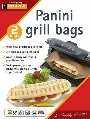 Toastabags Pack Of 2 Reusable Panini Grill Griddle Bags Toasted Sandwich Toastie • 2.29£