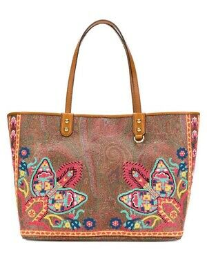 Etro Paisley Canvas Tote Bag With Floral Embroidery 2019 $1130 • 429.15£