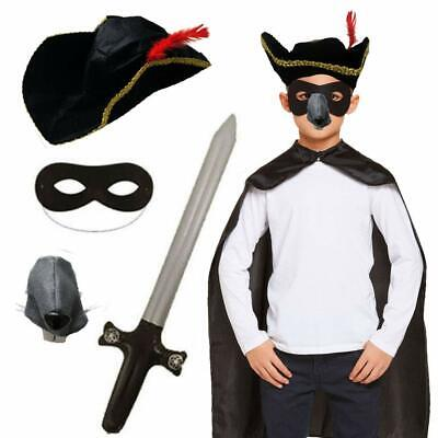 £9.99 • Buy Childrens Kids Highway Man Fancy Dress Costume World Book Day Animal Outfit.